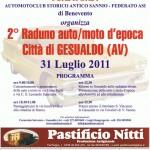 2° Raduno Auto e Moto d'epoca, Città di Gesualdo (AV), 31 luglio 2011