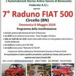 """06 Maggio 2018 – """"7° Raduno Fiat 500 """" città di Circello ."""