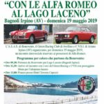 """Domenica 19 maggio 2019 """"Raduno Alfa Romeo – Con le Alfa Romeo al Lago Laceno"""""""
