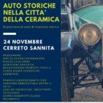 """24 novembre 2019- """"Auto storiche nella città della ceramica"""" a Cerreto Sannita."""