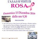 """15 Dicembre 2019 – """"L'ASAS si veste di Rosa."""" S. Leucio del Sannio."""