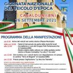 26 settembre 2021- Gionata Nazionale del Veicolo d'Epoca.Casalduni